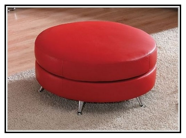 Impressive Fashionable Round Red Coffee Tables With Red Round Ottoman Coffee Table Ottoman Stools Gallery Kbavywww (View 30 of 50)