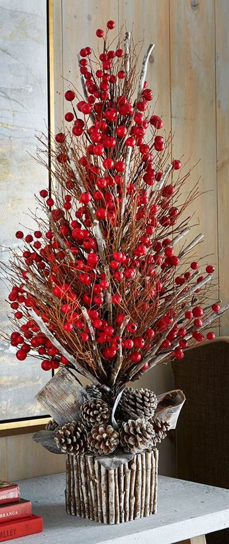 Impressive Fashionable Rustic Christmas Coffee Table Decors Regarding Best 20 Rustic Christmas Tree Decorations Ideas On Pinterest (Image 31 of 50)