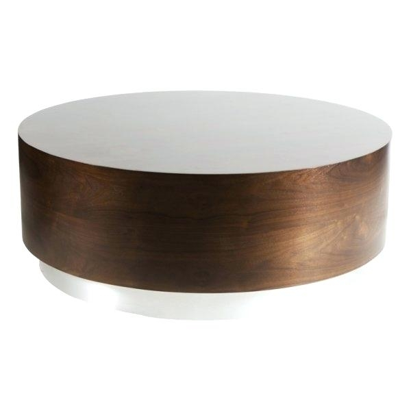 Impressive Fashionable Silver Drum Coffee Tables With Round Drum Coffee Table Dealhackrco (Image 20 of 50)