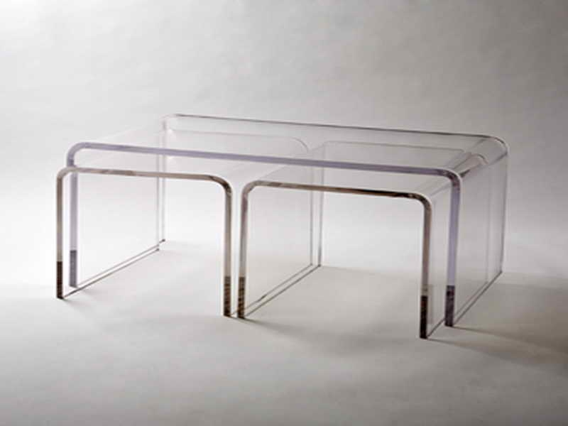 Impressive Fashionable Small Coffee Tables With Shelf For Charming Plexiglass Coffee Table Acrylic Coffee Table With Shelf (Image 24 of 40)