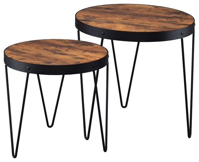 Impressive Favorite 2 Piece Coffee Table Sets Intended For Nesting Tables 2 Piece Nesting Table Set With Hairpin Legs (View 7 of 50)