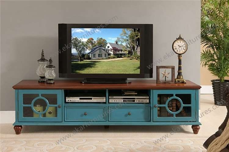 Impressive Favorite Antique Style TV Stands With Regard To Country Style White Tv Bench Wooden M  (Image 28 of 50)