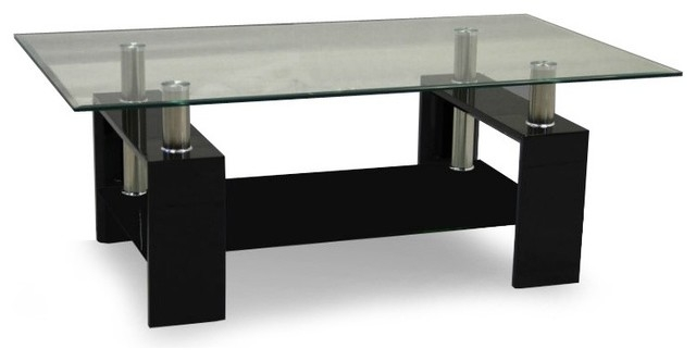 Impressive Favorite Black Glass Coffee Tables  Within Beautiful Black Glass Coffee Table With White Gloss Legs In Decor (Image 30 of 50)