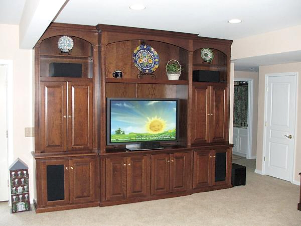 Impressive Favorite Cherry Wood TV Cabinets Throughout Custom Built In Tv Cabinets Entertainment Centers Philadelphia Pa (View 23 of 50)