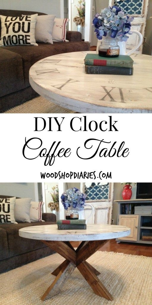 Impressive Favorite Clock Coffee Tables Round Shaped Within Best 10 Coffee Table Base Ideas On Pinterest Industrial Side (View 36 of 50)