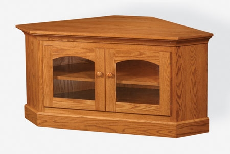 Impressive Favorite Corner Oak TV Stands With Regard To Up To 33 Off Shaker Corner Tv Stand In Oak Solid Wood Furniture (Image 26 of 50)