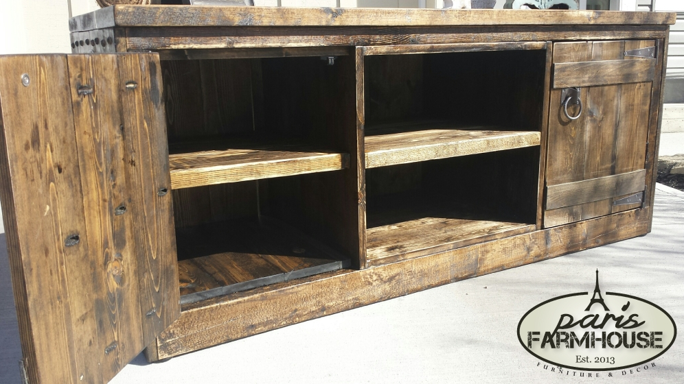 Impressive Favorite Dark Walnut TV Stands Inside Rancher Tv Stand Large 2 Doors 1 Shelf Dark Walnut  (Image 30 of 50)