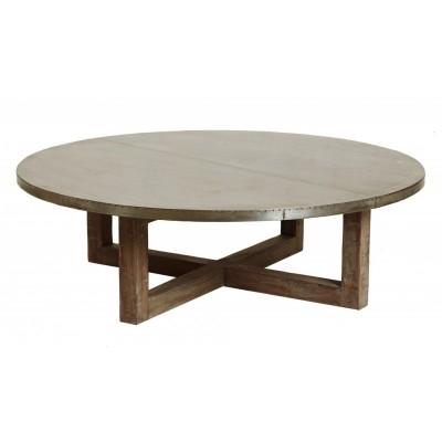 Impressive Favorite Dark Wood Round Coffee Tables Regarding Elegant Round Dark Wood Coffee Table With Reclaimed Wood Coffee (Image 28 of 50)