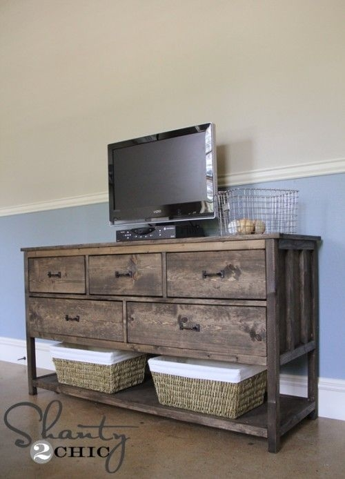 Impressive Favorite Dresser And TV Stands Combination Pertaining To Best 25 Dark Wood Tv Stand Ideas On Pinterest Rustic Tv Stands (View 5 of 50)