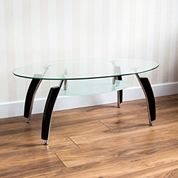 Impressive Favorite Elena Coffee Tables Pertaining To Home Discount Elena Black And Clear Glass Coffee Table Amazonco (View 23 of 40)
