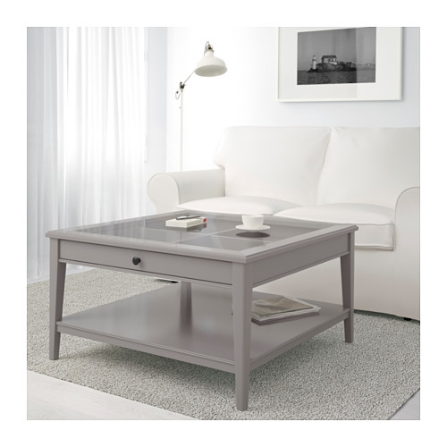 Impressive Favorite Grey Coffee Tables Pertaining To Liatorp Coffee Table Grayglass Ikea (View 5 of 50)