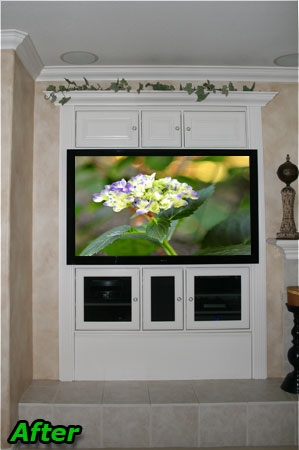 Impressive Favorite Large TV Cabinets Within How To Retrofit Or Modify Your Old Entertainment Center To (View 8 of 50)