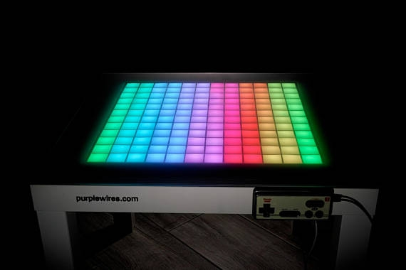 Impressive Favorite Led Coffee Tables In Tetris Table Led Coffee Table Game Table Led Light Table (Image 30 of 50)