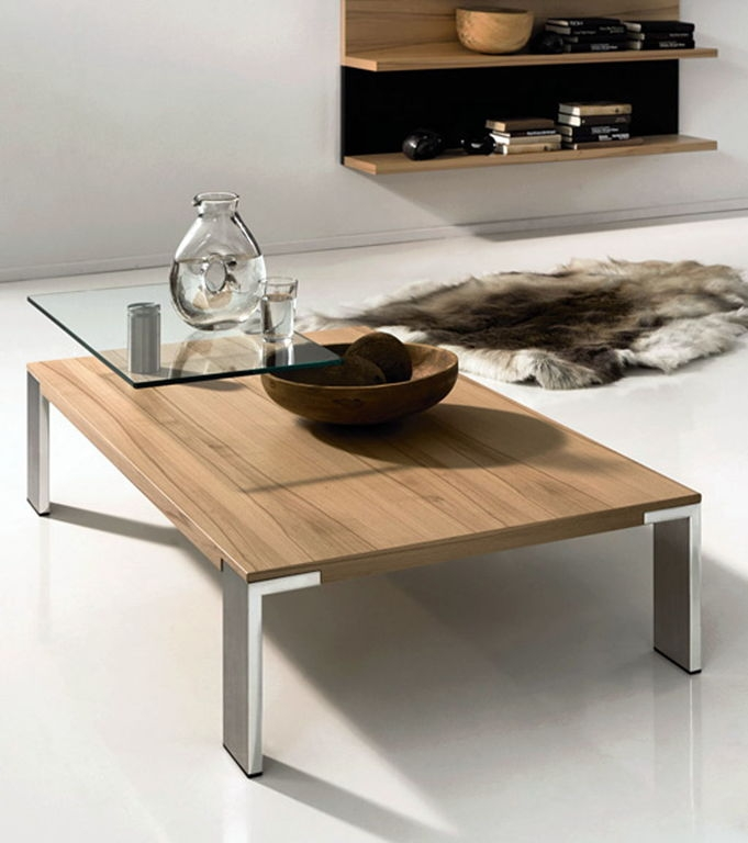 Impressive Favorite Low Square Wooden Coffee Tables Regarding Outstanding Walnut Coffee Table (Image 25 of 50)