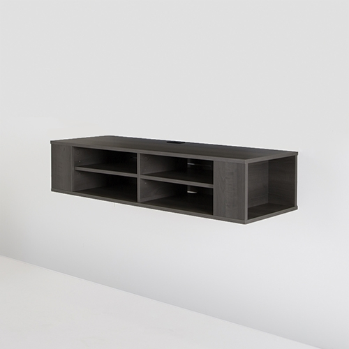 Impressive Favorite Maple TV Stands With Regard To South Shore Wall Tv Stand For Tvs Up To 48 Grey Maple Tv (View 35 of 50)