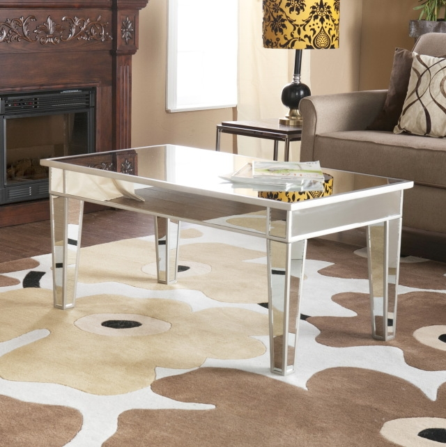 Impressive Favorite Mirrored Coffee Tables Intended For Mirrored Coffee Table Target Idi Design (Image 23 of 50)
