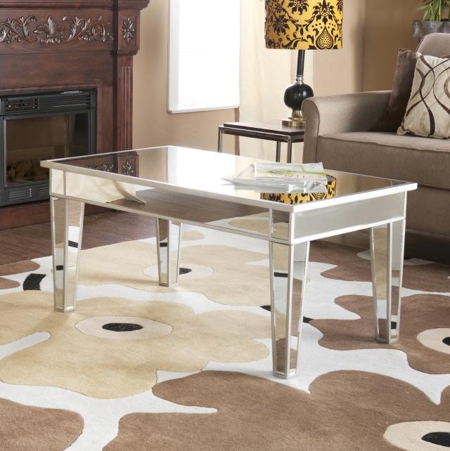 Impressive Favorite Mirrored Coffee Tables Intended For Mirrored Coffee Table Target Idi Design (Photo 23 of 50)