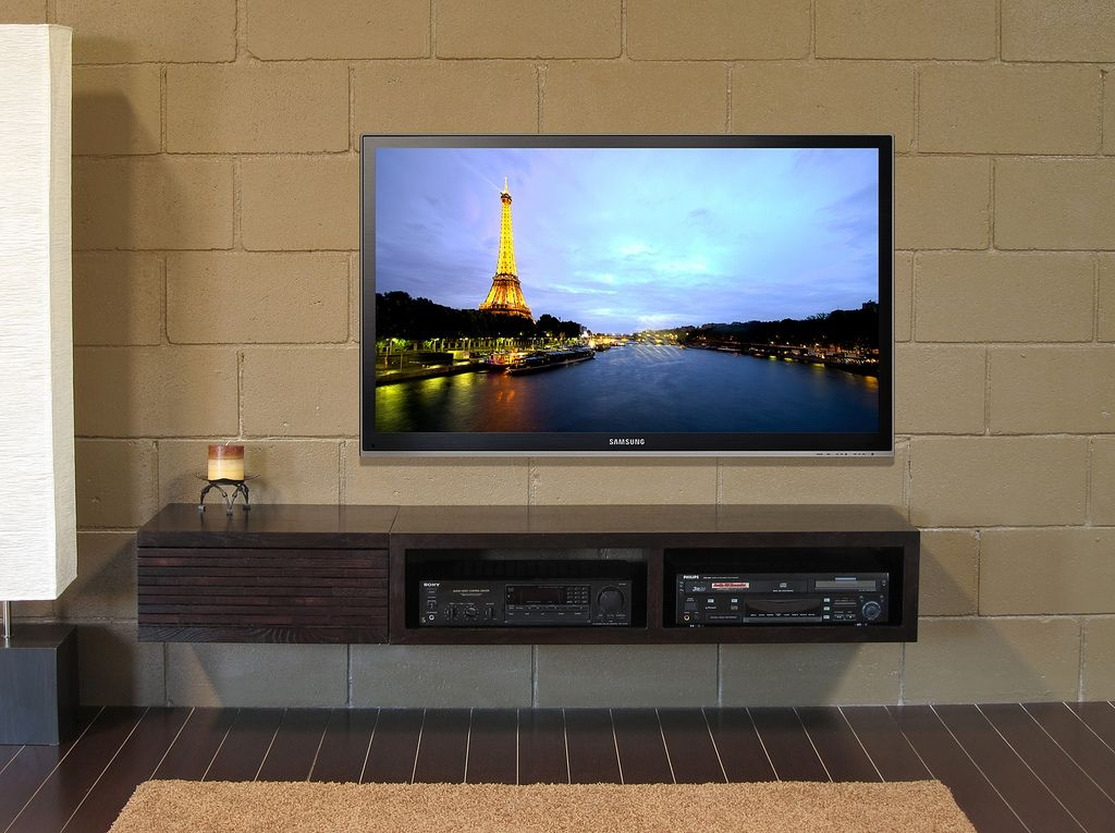 Impressive Favorite Modern Wall Mount TV Stands In Modern House With Wall Mounted Tv And Tv Stand Tips To Buying A (Image 28 of 50)