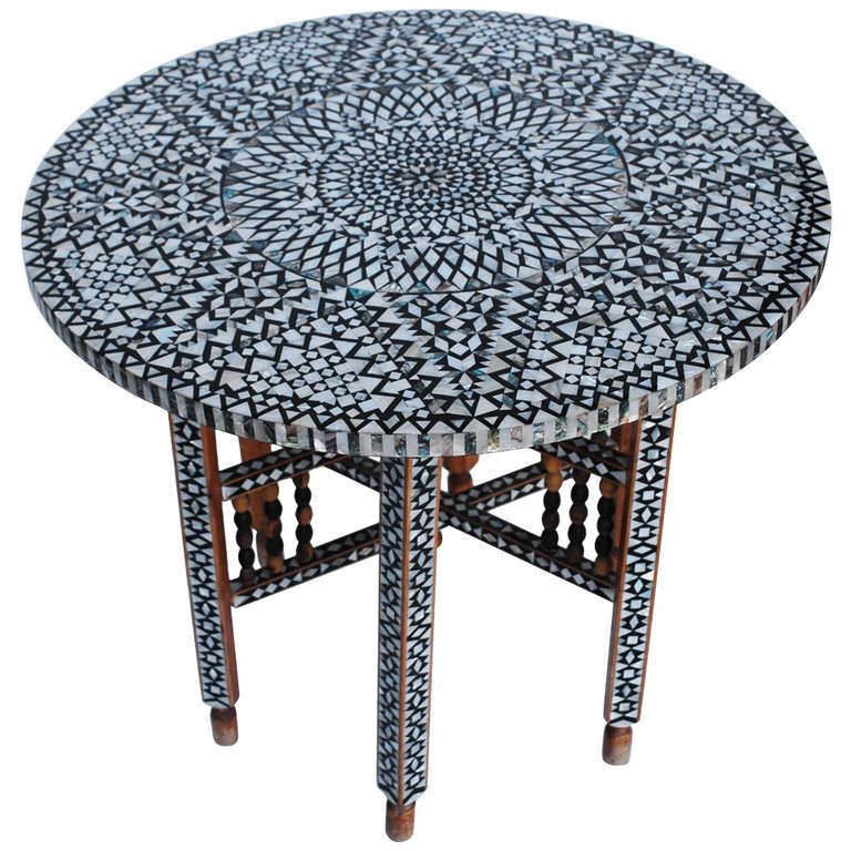 Impressive Favorite Mother Of Pearl Coffee Tables Inside Beautiful Mid Century Mother Of Pearl Moroccan Coffee Table At 1stdibs (View 43 of 50)