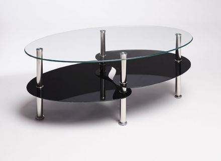 Impressive Favorite Oval Black Glass Coffee Tables Inside Black And Glass Coffee Table Jerichomafjarproject (Image 28 of 50)