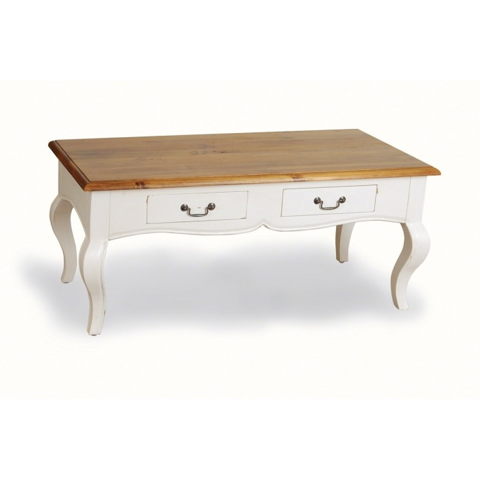 Impressive Favorite Retro White Coffee Tables Pertaining To Coffee Table Painted Toulouse Drawer Coffee Table Antique White (Image 24 of 50)
