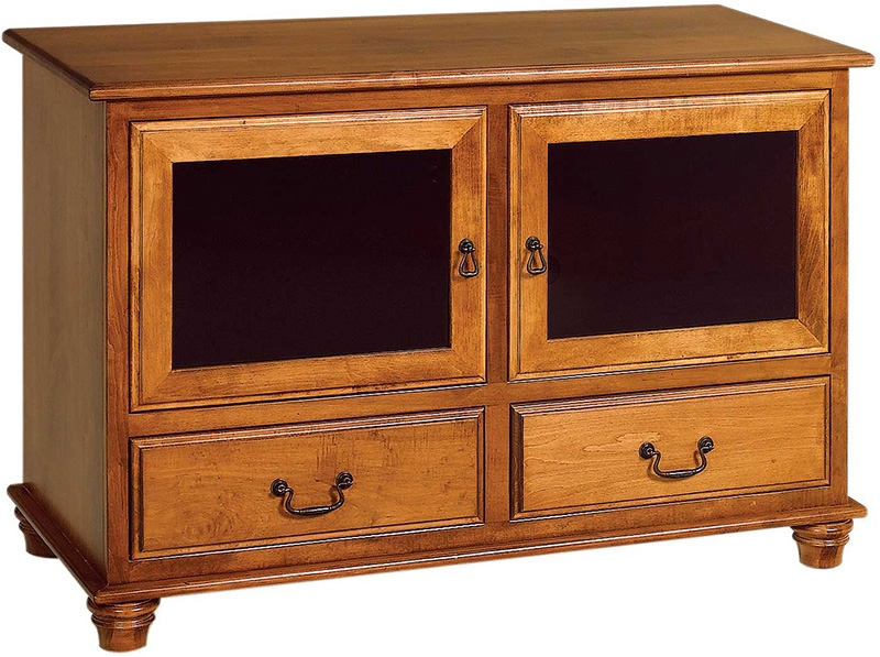 Impressive Favorite TV Cabinets With Drawers Inside Amish Crafted Woodbury Tv Cabinet With Drawers (Image 28 of 50)
