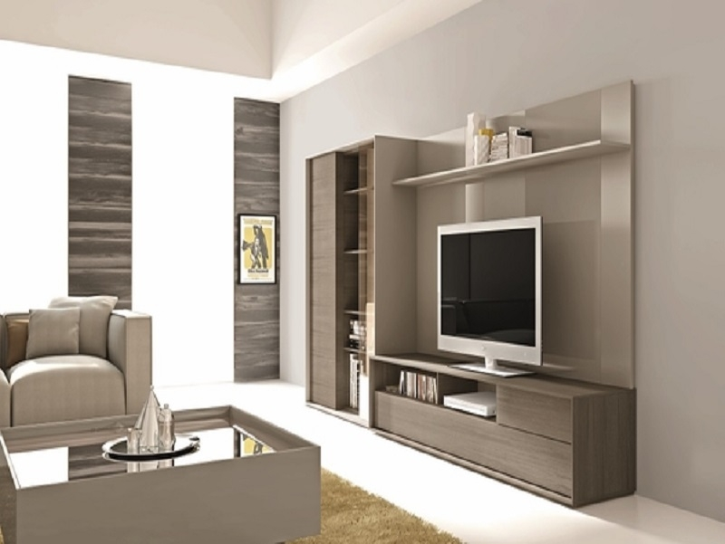 Impressive Favorite TV Stand Wall Units Throughout Tv Stand Cum Wall Unit Chennaistarfurniture (Image 30 of 50)