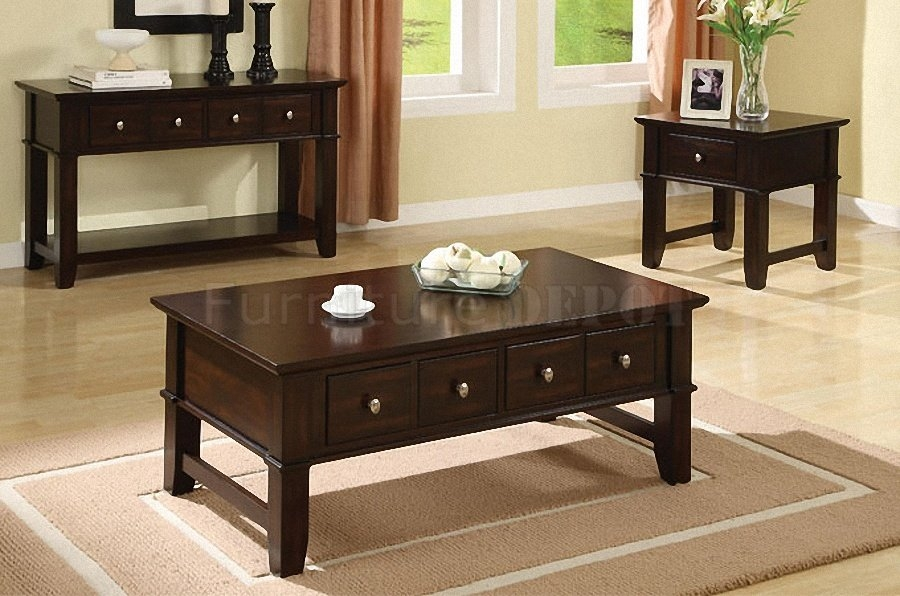 Impressive High Quality Dark Wood Coffee Table Storages Regarding Coffee Tables Marvellous Coffee Table And End Tables Design Ideas (Image 29 of 50)