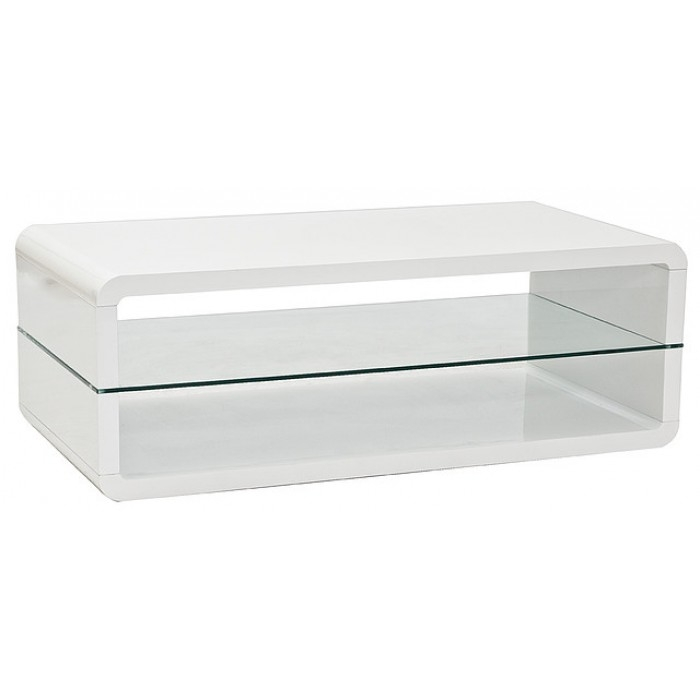Impressive High Quality Gloss Coffee Tables Within Tampa Designer Coffee Table In White High Gloss (View 36 of 50)