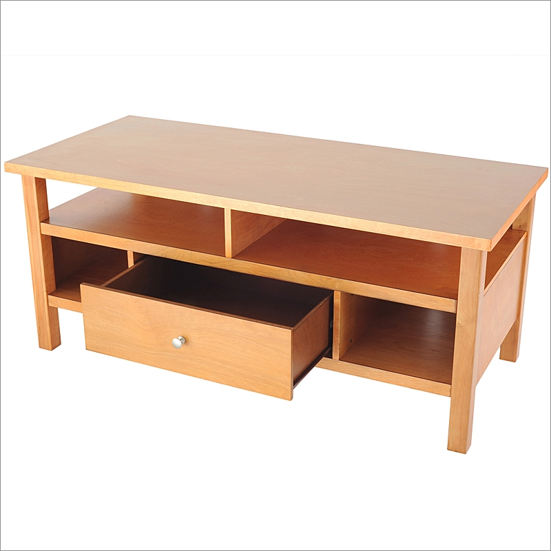 Impressive High Quality Maple TV Stands Within Honey Maple Flat Screen Or Tube Tv Stand With Drawer Bay Shore (View 12 of 50)