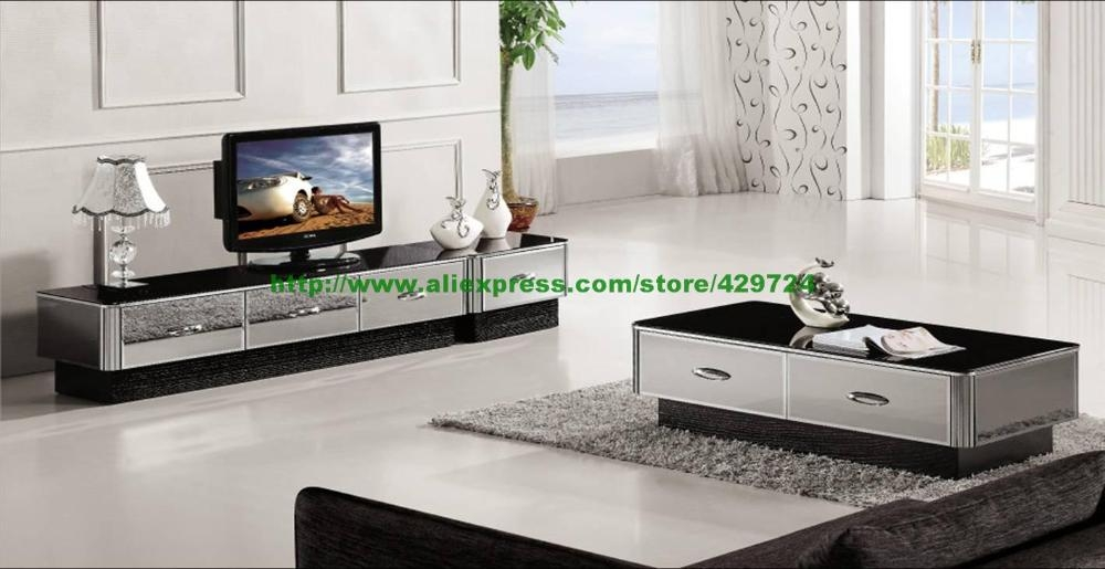 Impressive High Quality Mirrored TV Cabinets Furniture Within Aliexpress Buy Modern Gray Mirror Modern Furniture Coffee (Image 30 of 50)