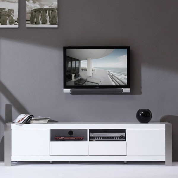Impressive High Quality Modern White Gloss TV Stands With Black And White Tv Stand Modern Tv Cabinets And Stands Kitchen (Image 23 of 50)