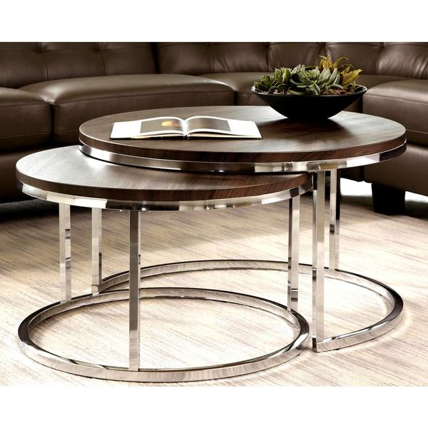 Impressive High Quality Nest Coffee Tables Intended For Arliss Modern Nesting Tables Contemporary Coffee Table Sets (Image 23 of 50)