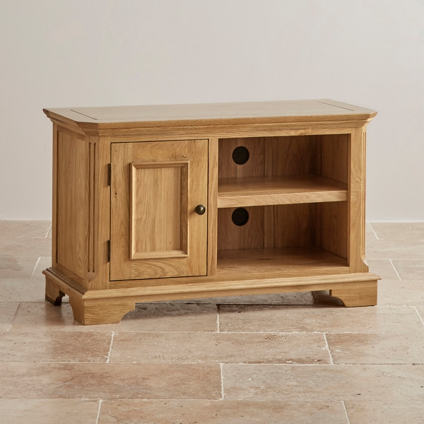 Impressive High Quality Small TV Cabinets With Regard To Edinburgh Small Tv Cabinet In Solid Oak Oak Furniture Land (Image 30 of 50)