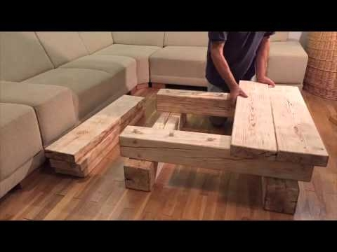 Impressive High Quality Solid Wood Coffee Tables With Regard To Solid Wood Coffee Table Home Simanart Youtube (Image 30 of 50)
