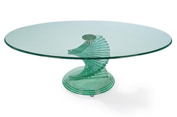Impressive High Quality Spiral Glass Coffee Table For New Home Furnishers Coffee Tables (Image 26 of 50)