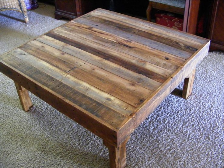 Impressive High Quality Square Large Coffee Tables Within Stunning Rustic Square Coffee Table Coffee Tables Ideas Rustic (Image 20 of 50)