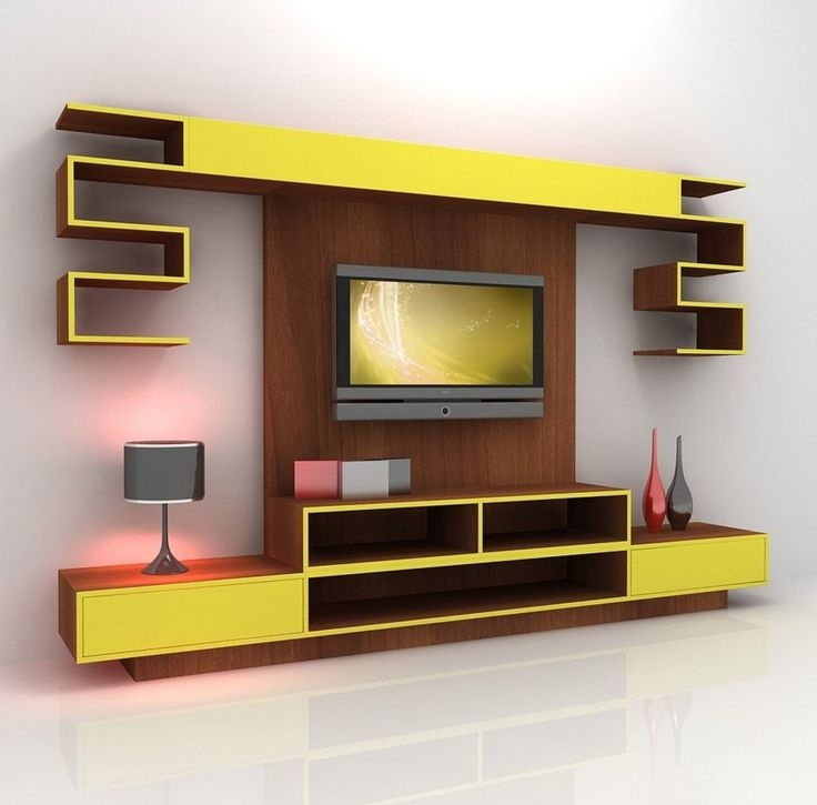 Impressive High Quality Yellow TV Stands Intended For Tv Stands For Flat Screens On The Wall Httpstreanubianlights (View 12 of 50)