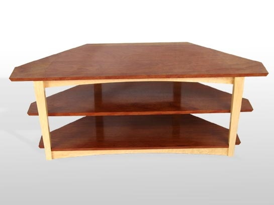 Impressive Latest Art Deco TV Stands With Regard To Larry Couture Designs Bubinga And Maple Tv Stand Custom Studio (Image 27 of 50)