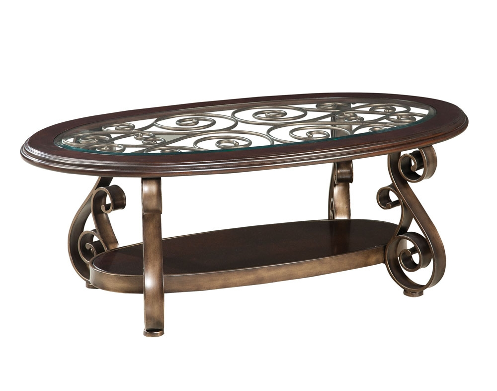 Impressive Latest Bombay Coffee Tables Throughout Standard Furniture Bombay 3 Piece Glass Top Coffee Table Set In (View 3 of 50)