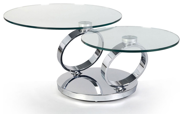 Impressive Latest Chrome Glass Coffee Tables Throughout Modern Chrome Glass Coffee Table Design (Image 32 of 50)