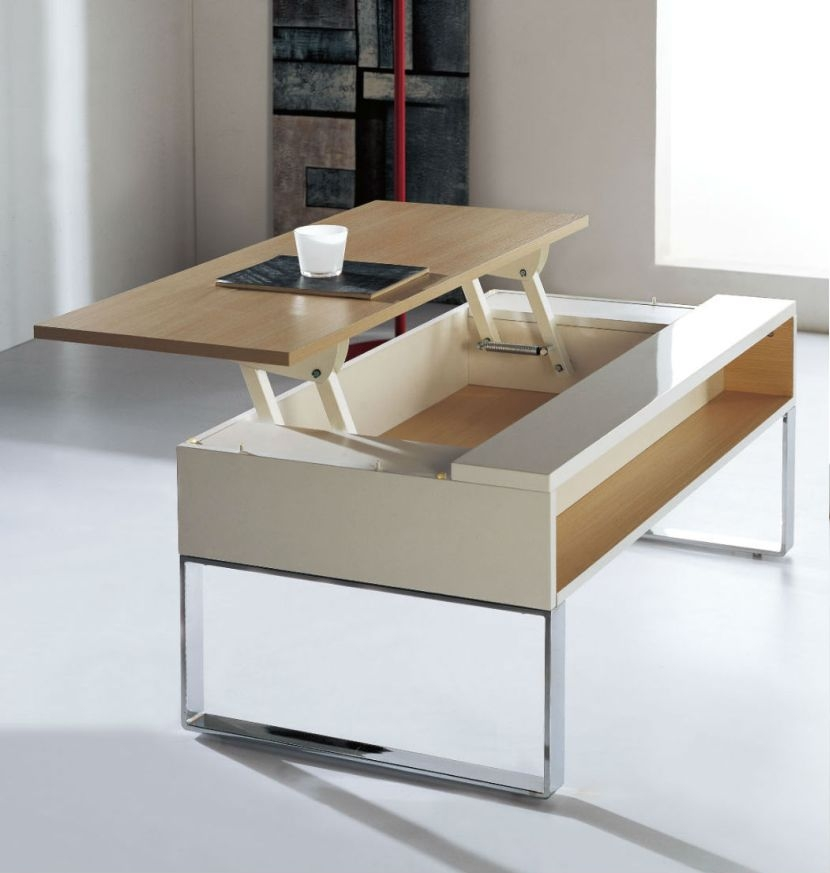 Impressive Latest Coffee Tables Extendable Top Regarding Stunning Retractable Coffee Table (Image 26 of 50)