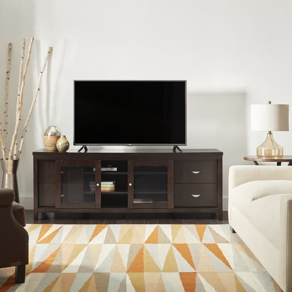 Impressive Latest Espresso TV Cabinets Inside Abson Clarkston Solid Wood 72 Inch Tv Console Free Shipping (Image 28 of 50)