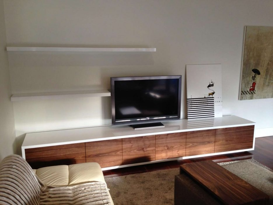 Impressive Latest Floating Glass TV Stands Pertaining To White High Gloss Tv  Unit Universal Tv Stand