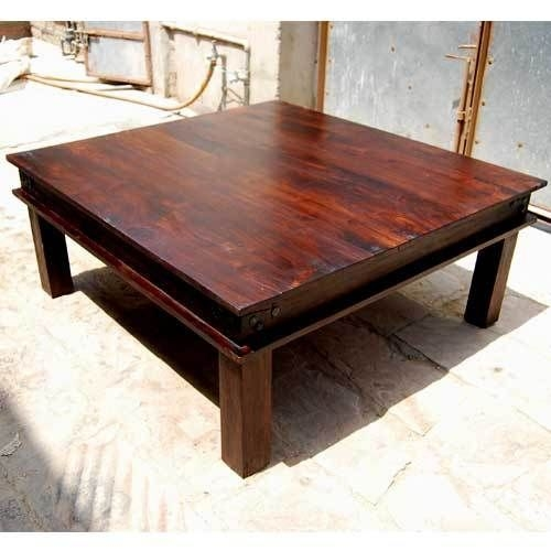 Impressive Latest Large Rustic Coffee Tables With Square Rustic Coffee Table Large Pine Square Rustic Coffee Table (View 34 of 50)