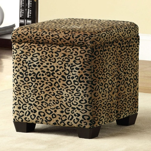 Impressive Latest Leopard Ottoman Coffee Tables Regarding Leopard Print Ottoman Coffee Table Ottoman Stools Gallery (View 10 of 40)