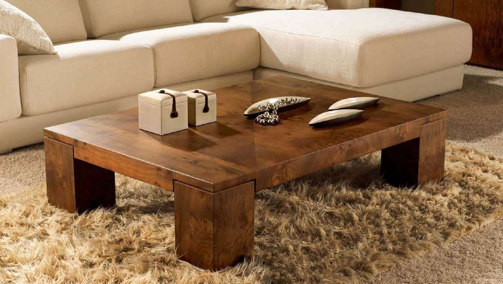 Impressive Latest Low Square Coffee Tables Within Furniture Amazing Contemporary Wooden Low Coffee Tables On Cream (Image 30 of 50)