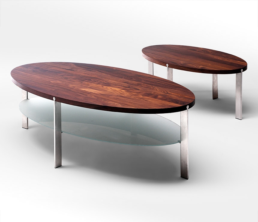 Impressive Latest Oval Walnut Coffee Tables Intended For Modern Oval Coffee Tables Table And Estate (Image 27 of 50)