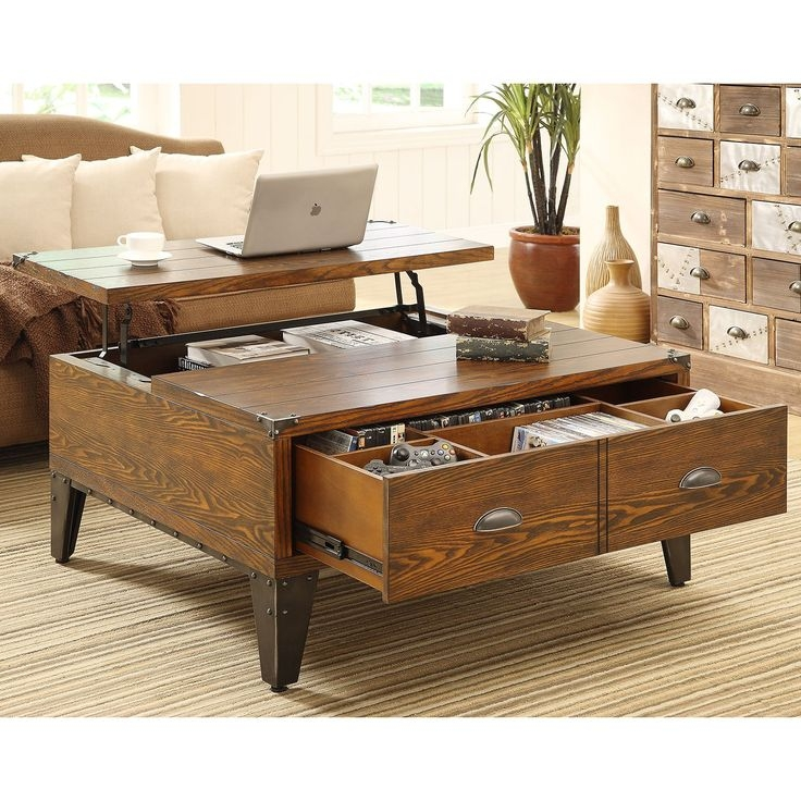 Impressive Latest Pine Coffee Tables With Storage Within Best 20 Coffee Table With Drawers Ideas On Pinterest Coffee (Image 27 of 50)