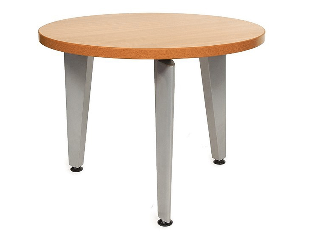 Impressive Latest Round Beech Coffee Tables Pertaining To Elite Round Coffee Table With Silver Legs In Beech Radius Office (Image 33 of 50)